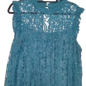 Dark Teal lace blouse 3XL